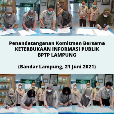 Komitmen BPTP Lampung Untuk Keterbukaan Informasi Publik